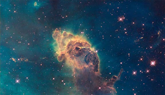 3-light-year-long pillar in the Carina Nebula