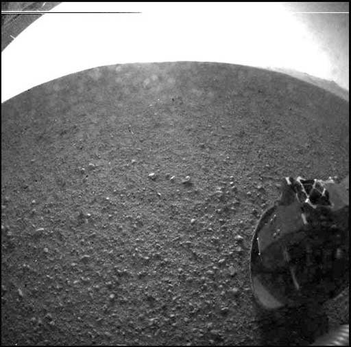 Curiosity's landing site coming into focus.