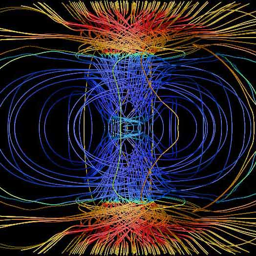 Supernova explosion simulation