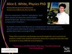 Slide 10: Physics Profile: Alice White