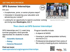 SPS Summer Internships