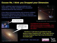 Focus: Dropped Dimensions (LISA)