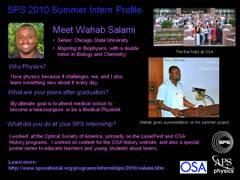 SPS Interns: Wahab Salami