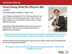 Physicist Profile: Didi Pei