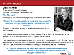 Physicist Profile: Lisa Randall