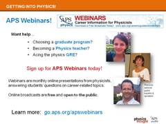 Career Resource: APS Webinars