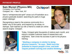 Slide 12: Physicist Profile: Sam Wurzel
