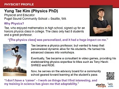 Physicist Profile: Yung Tae Kim