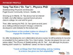 Physicist Profile: Dr. Tae