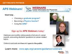 Career Resources: APS Webinars