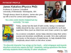 Physicist Profile: James Kakalios