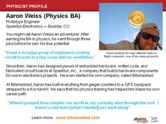 Physicist Profile: Aaron Weiss