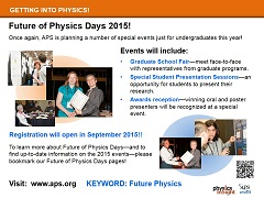 Future of Physics Days 2015