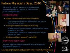 Slide 14: Future Physicists Days 2010