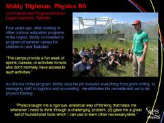 Physics Profile: Middy Tilghman