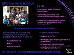 SPS Summer Interns 2010