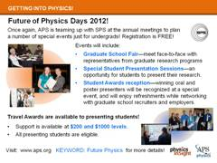 Slide 19: Future of Physics Days 2012