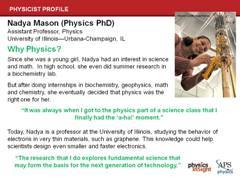 Slide 21: Minority Physicist: Nadya Mason