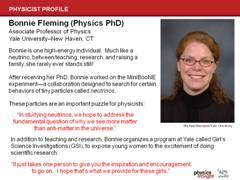 Physicist Profile: Bonnie Fleming