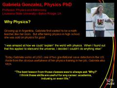 Physics Profile: Gabriela Gonzalez