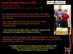 Physics Profile:Laura Smoliar