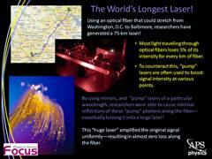 Slide 4: Focus: World's Longest Laser!