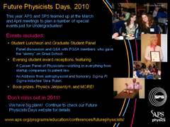 Slide 4: Future Physicists Days 2010