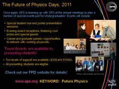 Future of Physics Days 2011
