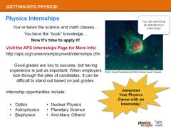 Slide 4: APS Physics Internships