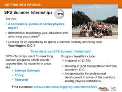 Career Resource: SPS Internships