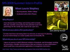 Slide 5: SPS Interns: Laurie Stephey