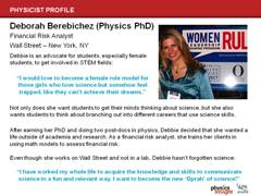 Physicist Profile: Deborah Berebichez