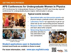 Conferences for UG Women in Physics
