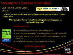 Slide 6: APS Career Center Promotion