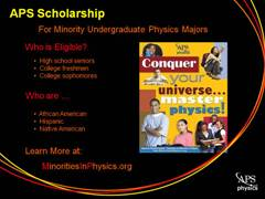 Slide 6: APS Minority Scholarship
