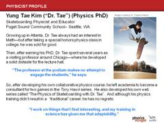 Physicist Profile: Dr. Tae Kim