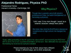 Slide 7: Physics Profile: Alejandro Rodriguez