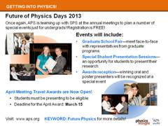 Future of Physics Days 2013