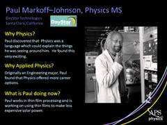Slide 8: Profile: Paul Markoff-Johnson