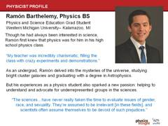 Minority Physicist: Ramon Barthelemy