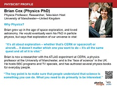 Physicist Profile: Brian Cox