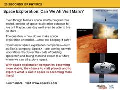 Elon's Work: Space Exploration