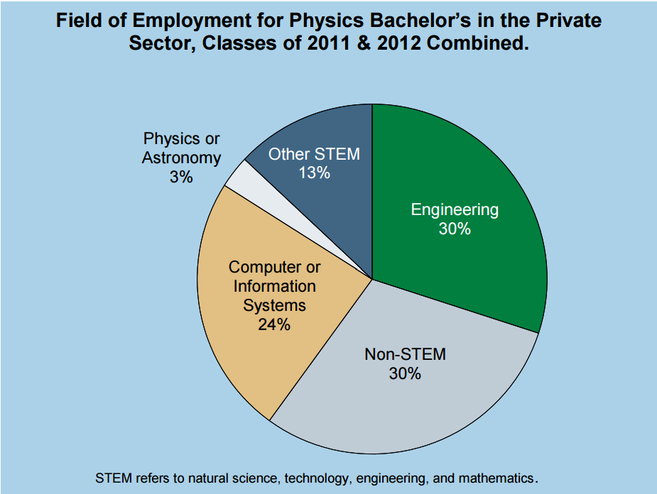 Field of Employment for Physics Bachelor's in Private Sector