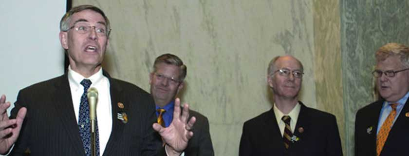 Higgs Boson Day<br /> The November Capitol Hill reception honored the U.S. contribution to the discovery of the Higgs boson.