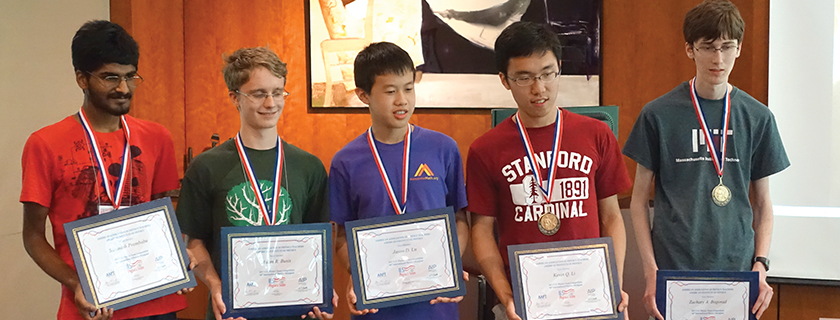 United States Traveling Team Selected<br /> Five high school students will participate in the International Physics Olympiad.