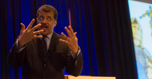 Neil deGrasse Tyson on Science in Popular Culture<br />Tyson's message to April Meeting attendees is to get the public more interested in science.