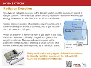 Kathy's Work: Radiation Detection