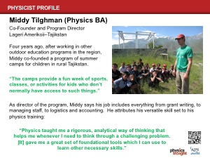 Physicist Profile: Middy Tilghman