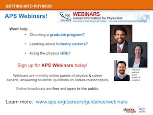 APS Webinars Broadcasts