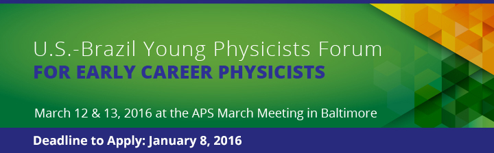 U.S.-Brazil Young Physicists Forum